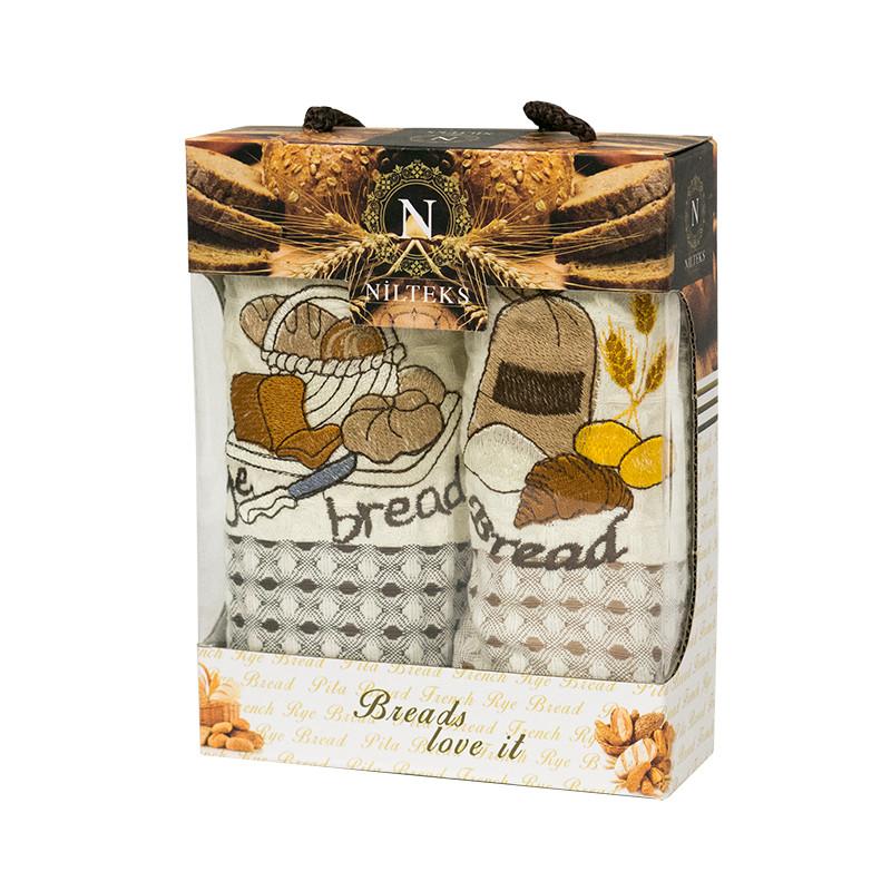 Набір вафельних рушників Nilteks Roma Bread 35*50