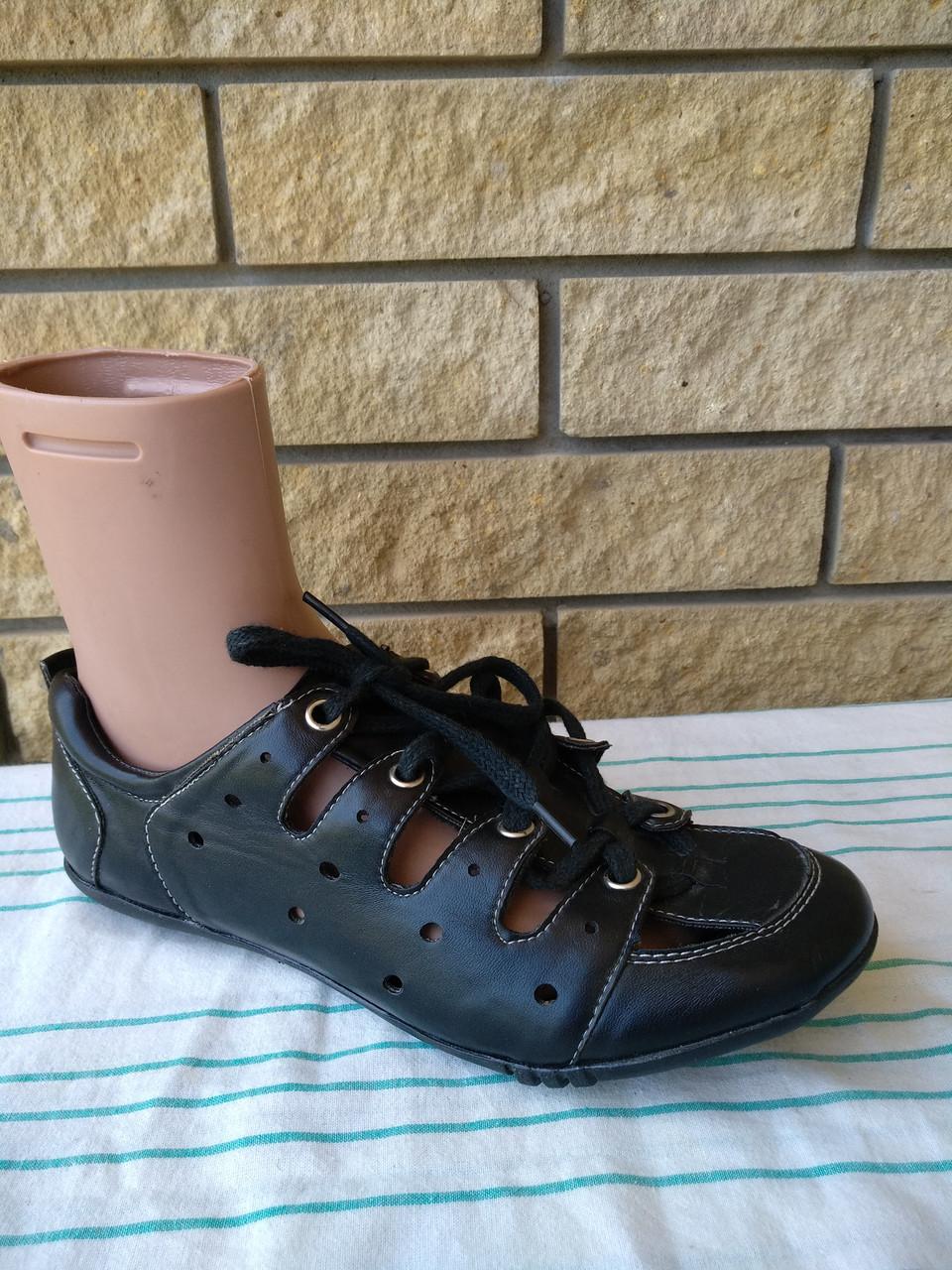 Туфли женские летние с регулировкой полноты шнуровкой SUNFINE