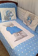 """Детское постельное белье в кроватку""""Тедди, набор постельного белья в кроватку, комплект в детскую кроватку"""