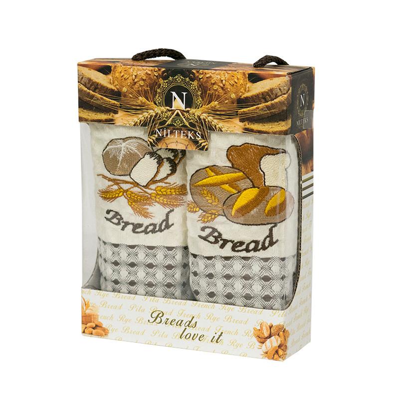 Набір кухонних рушників Nilteks Roma Bread 35*50