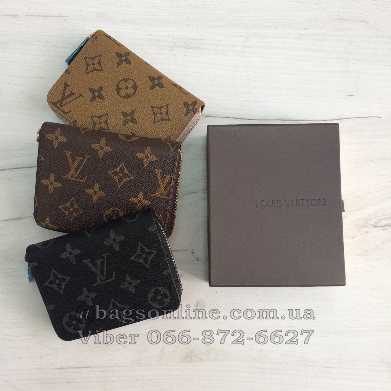 57dabf91292b Копия Кошелек Louis Vuitton Мини на молнии   LV канва   реплика Луи Витон  маленький -