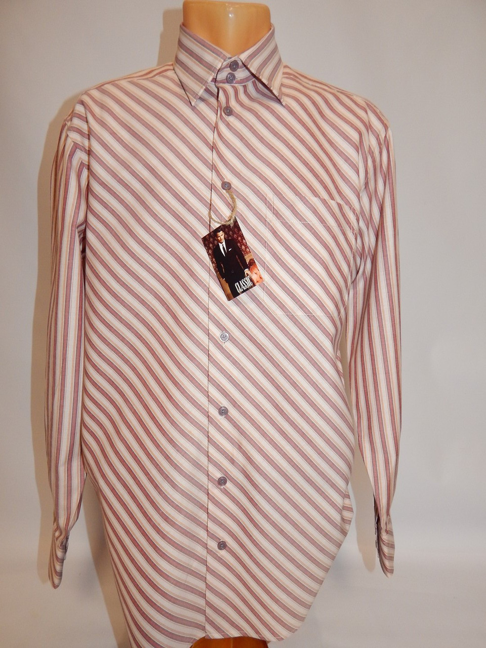Чоловіча сорочка з довгим рукавом 052ДР р. 48