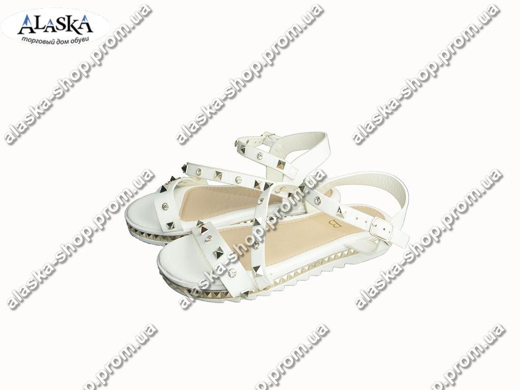 Женские сандалии (Код: Боссоножки LB белые )