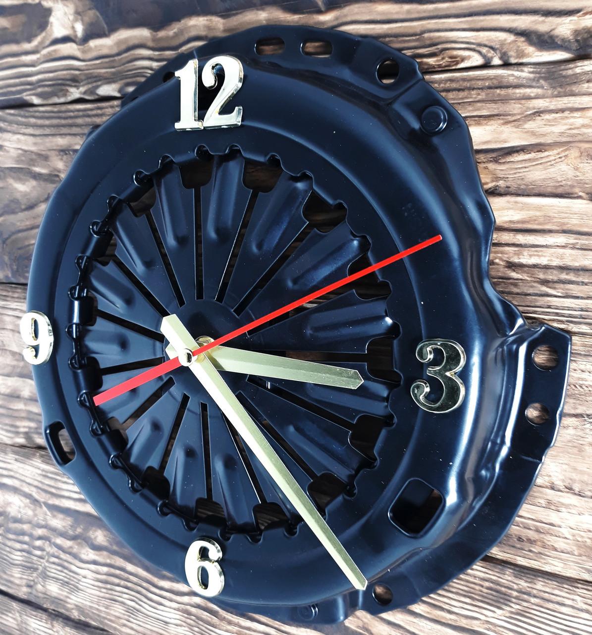 Часы настенные черные в стиле стимпанк