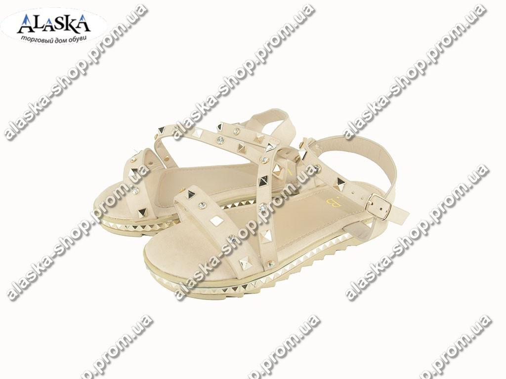 Женские сандалии (Код: Боссоножки LB бежевый )