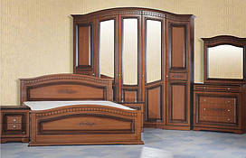 Шкаф 5-х дверный Венера СлонимМебель орех, белый