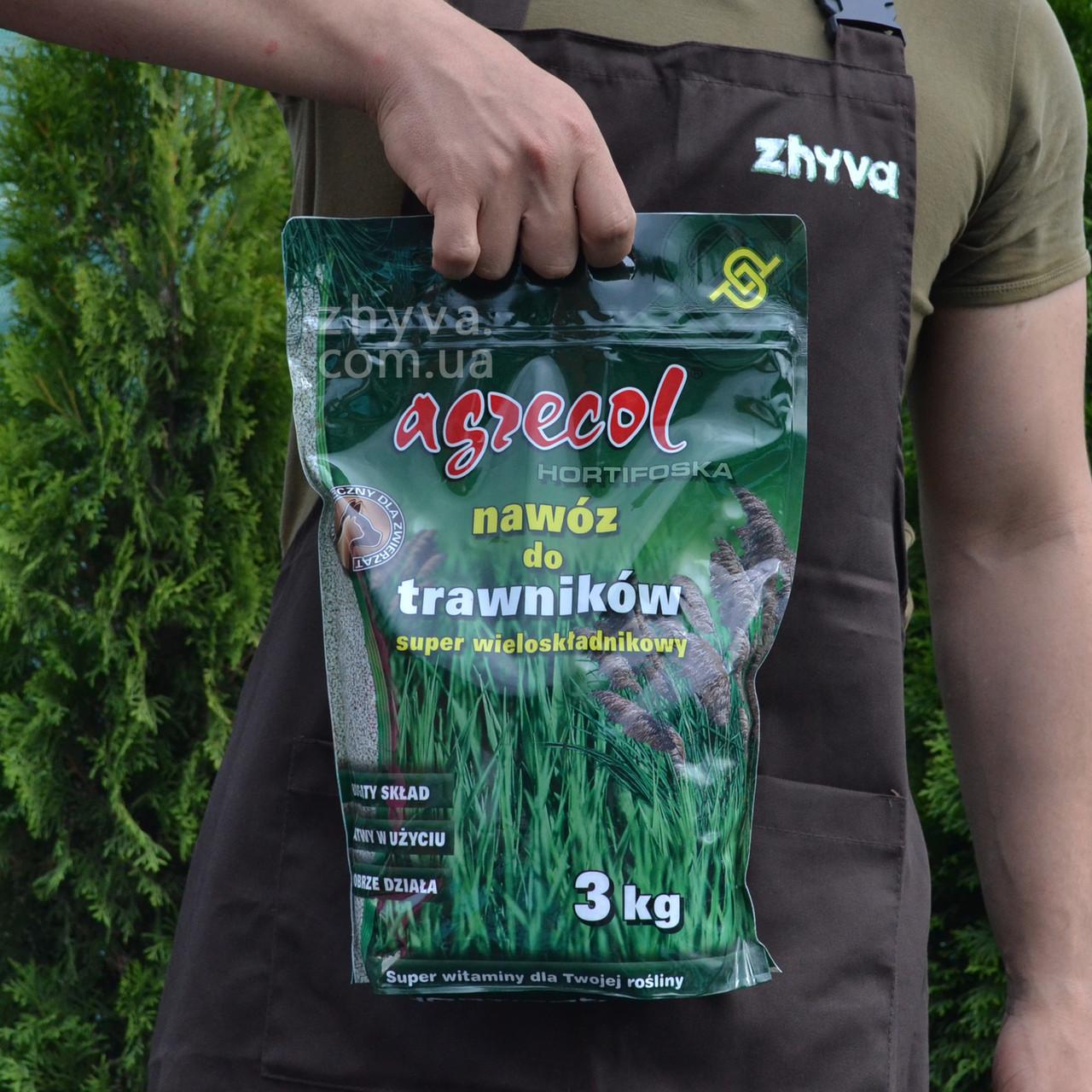 Добриво Agrecol для газонів Hortifoska 3кг