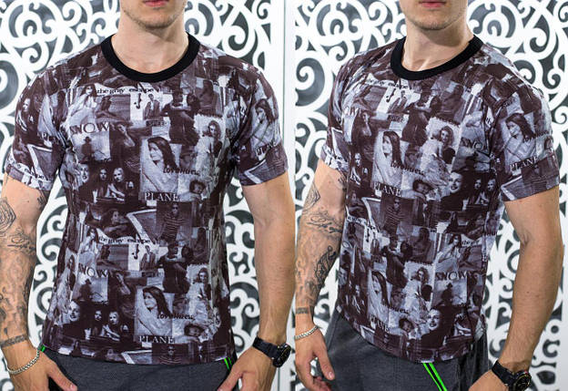 "Стильная мужская футболка ""Коттон"" 48, 50, 52, 54 размер батал, фото 2"