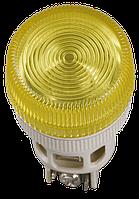 Лампа ENR-22 сигнальная d22мм желтый неон/240В цилиндр IEK