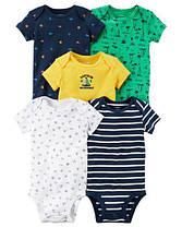 Боди с коротким рукавом для новорожденных мальчиков 6-9 мес. CAPTAIN Carter's (США)