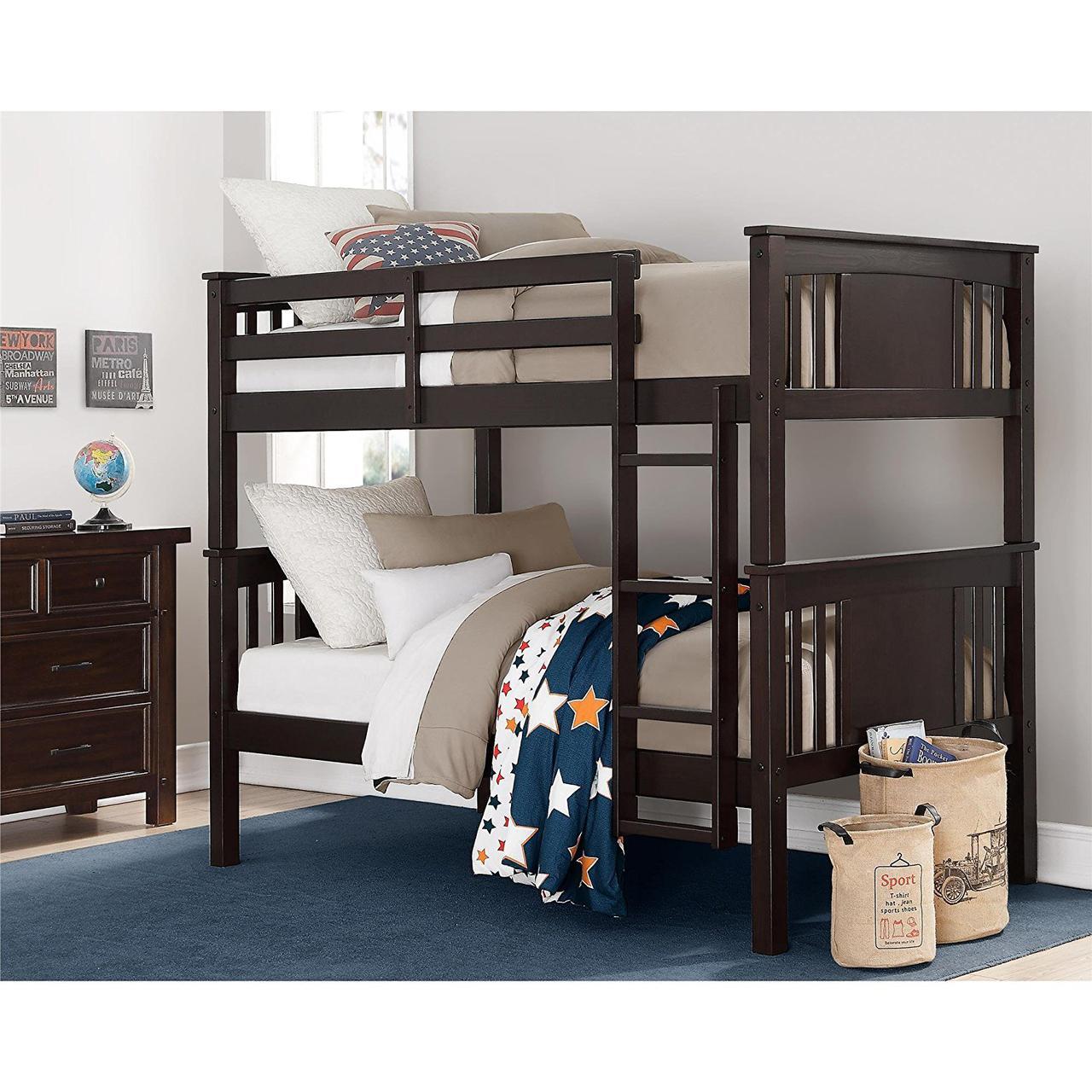 """Двухъярусная кровать из дерева """"Альберто"""""""