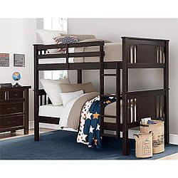 """Двох'ярусне ліжко з дерева """"Альберто"""""""