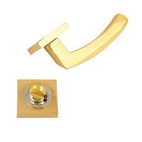 Фурнитура для алюминиевых дверей Ручка на розете ЦАМ Фурор Z 5012 GP\CP WC