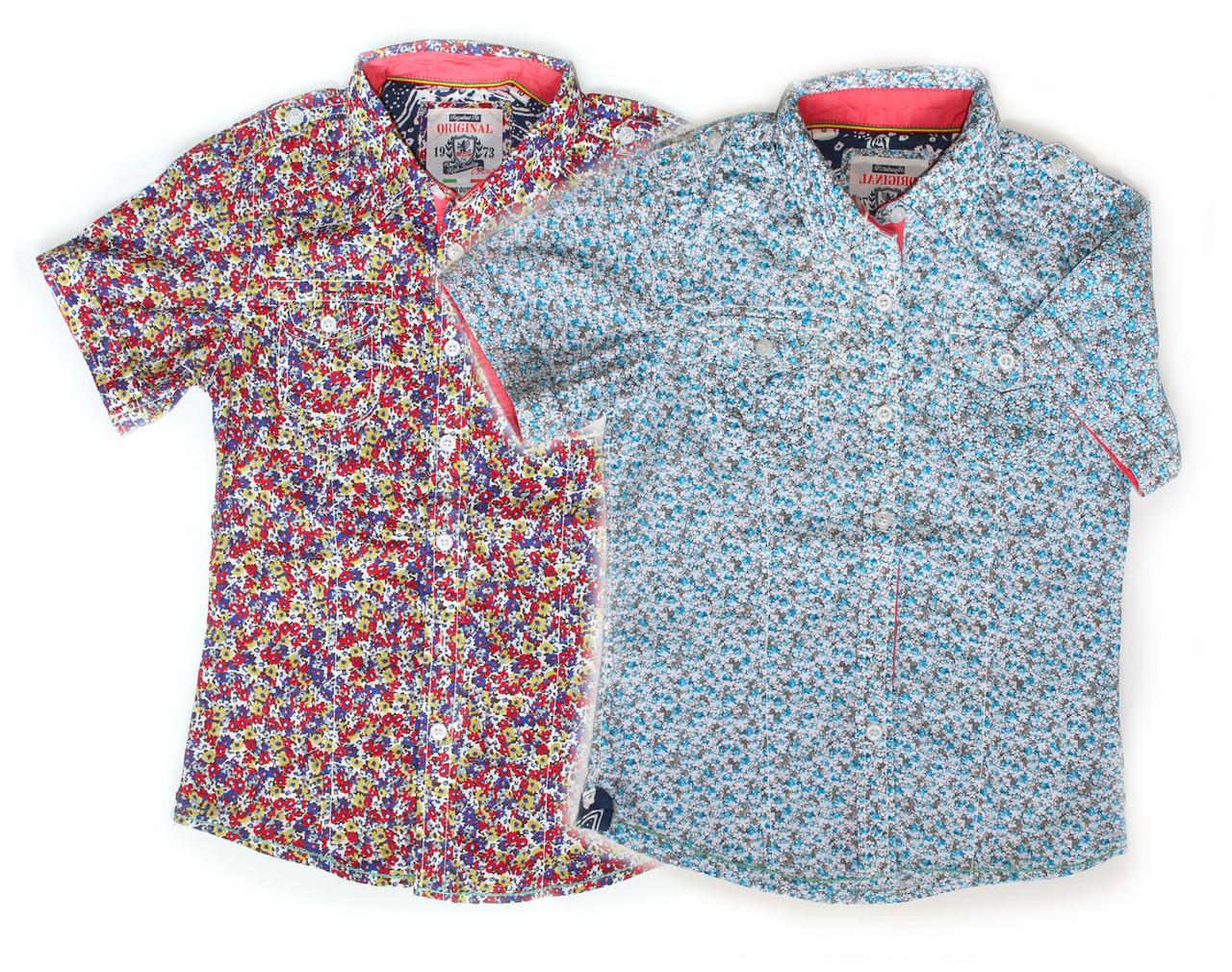 Рубашка летняя для мальчика, на возраст 4-14 лет