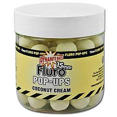 Бойлы Dynamite Baits Coconut Cream Fluro Pop-Ups 20mm 100g