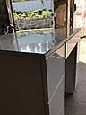 Белый глянцевый стол визажиста, гримерный столик, зеркало с подсветкой , фото 6