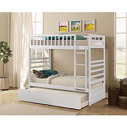 "Двухьярусная ліжко з натурального дерева ""Амато"""