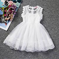 Миле, мереживне плаття на короткий рукав для дівчаток