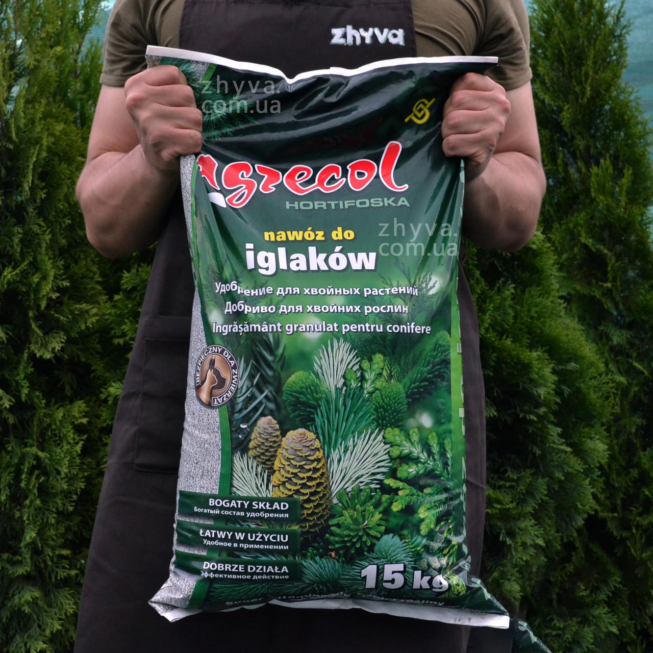 Добриво Argecol Hortifoska для хвойних рослин 15кг