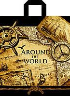 """Пакет с петлевой ручкой 40х43см 25шт. """"Around the world"""""""