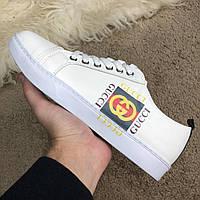 Кроссовки мужские Gucci Logo Sneaker 18623 белые, фото 1