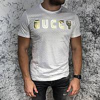 Футболка мужская Gucci Golden Stars 18583 белая, фото 1