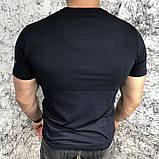 Футболка мужская Valentino Hole Dot 18580 черная, фото 3