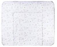 Пеленальный матрас Ceba Baby WD 85*70 multi  зайцы, птички белый
