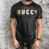 Футболка мужская Gucci Golden Stars 18584 черная, фото 1