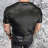 Футболка мужская Gucci Golden Stars 18584 черная, фото 3