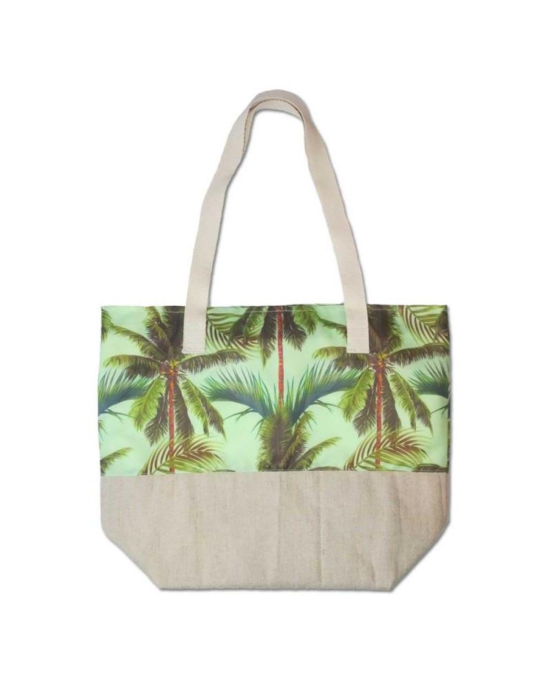 Пляжная сумка летняя Evans Palm Mint пальмы (сумка для пляжа, сумочка,