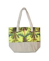c48dd4ce5621 Пляжная сумка летняя Evans Palm Yellow пальмы (сумка для пляжа, сумочка,  модные сумки