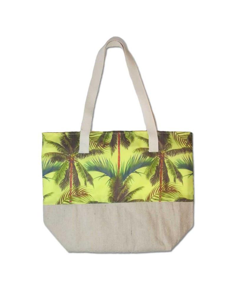 Пляжная сумка летняя Evans Palm Yellow пальмы (сумка для пляжа, сумочк