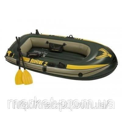 Надувная лодка  Intex 68349 Seahawk 3 + алюмин.весла!