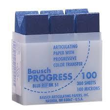 Артикуляційний папір Bausch Progress ВК51 100µm (300 листків прогресивне забарвлення)