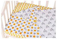 Сменный комплект Babyroom SB-003  белый (желтый,серый горох)