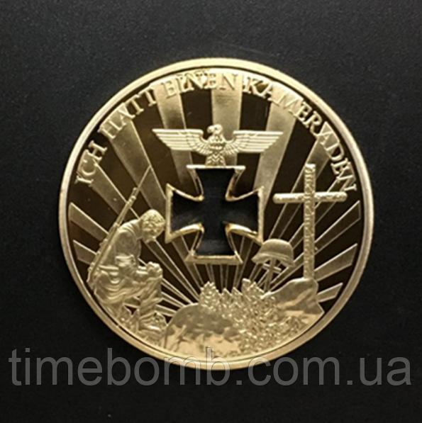 Позолоченная сувенирная монета ''Вторая мировая война''