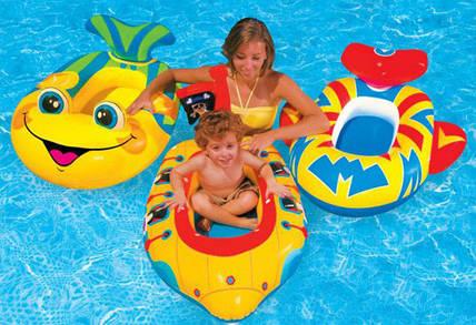 Детские надувные лодки, нарукавники, круги - какие лучше купить