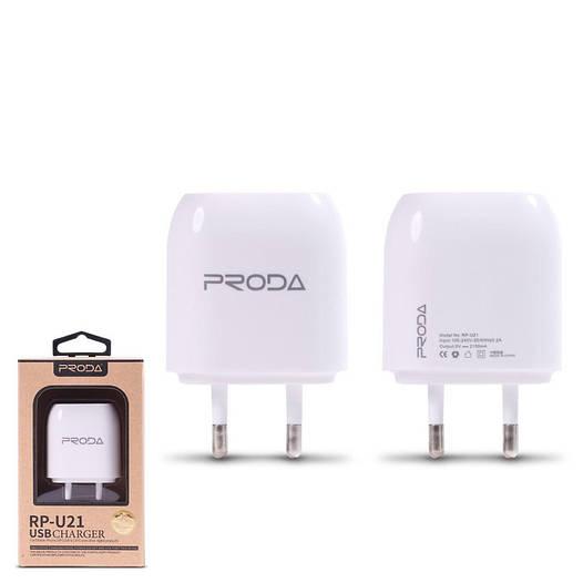 Зарядное устройство Remax Wall Charger RP-U21 2.1A + Iphon6 Кабель