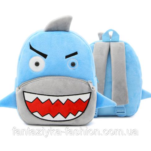 Рюкзак детский плюшевый Акула