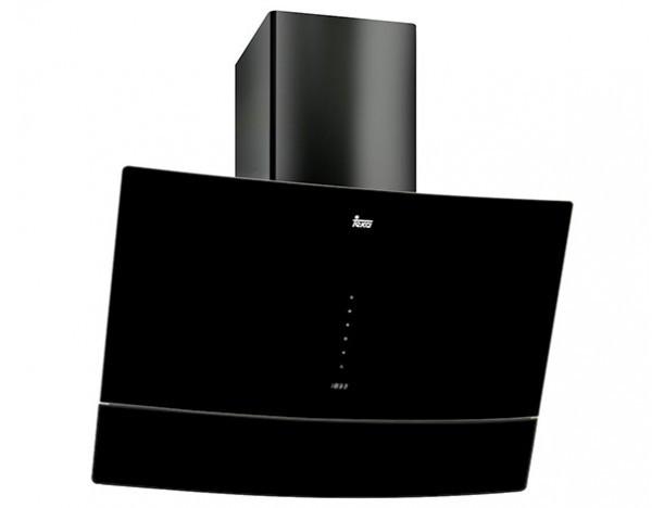 Кухонная вытяжка Teka DVU 590 B, черное стекло, вертикальный дизайн
