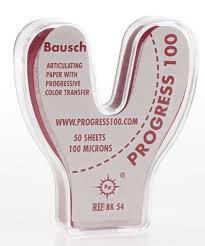 Артикуляційний папір Bausch Progress ВК54 100µm (50 дужок прогресивне забарвлення), фото 2