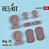 Mig-25 wheels set 1/48  RES/KIT 48-0057
