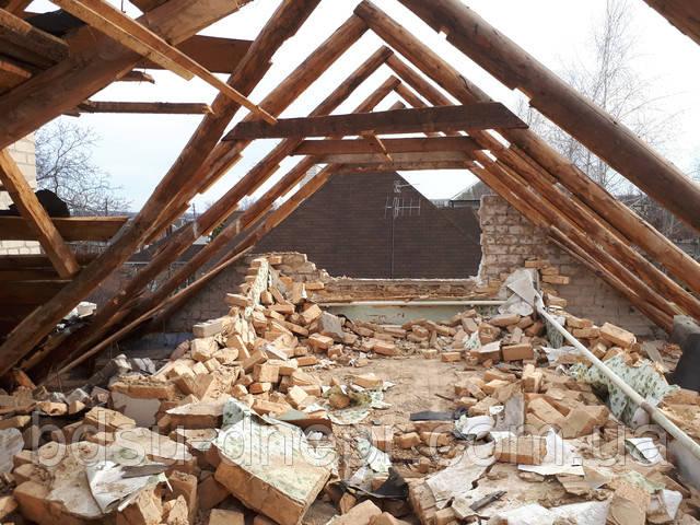 Демонтаж крыши, перекрытия.
