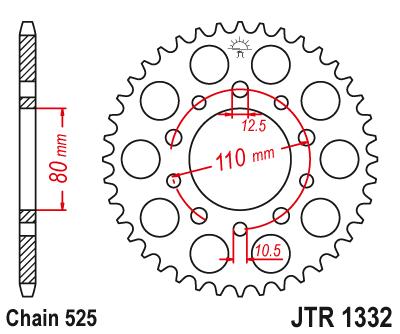 Звезда задняя JTR1332.42