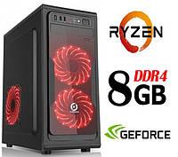 Персональный игровой компьютер ZEN / 4ядра* 3.4GHz / 8Gb_DDR4 / 500Gb / GT_1030_2GB_DDR5