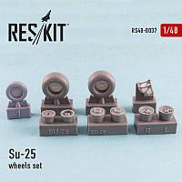 Su-25 wheels set 1/48  RES/KIT 48-0037