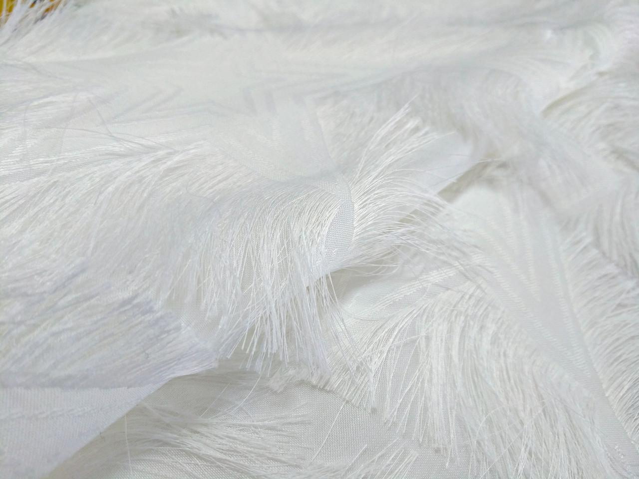 Жаккард ресничка звезды, белый