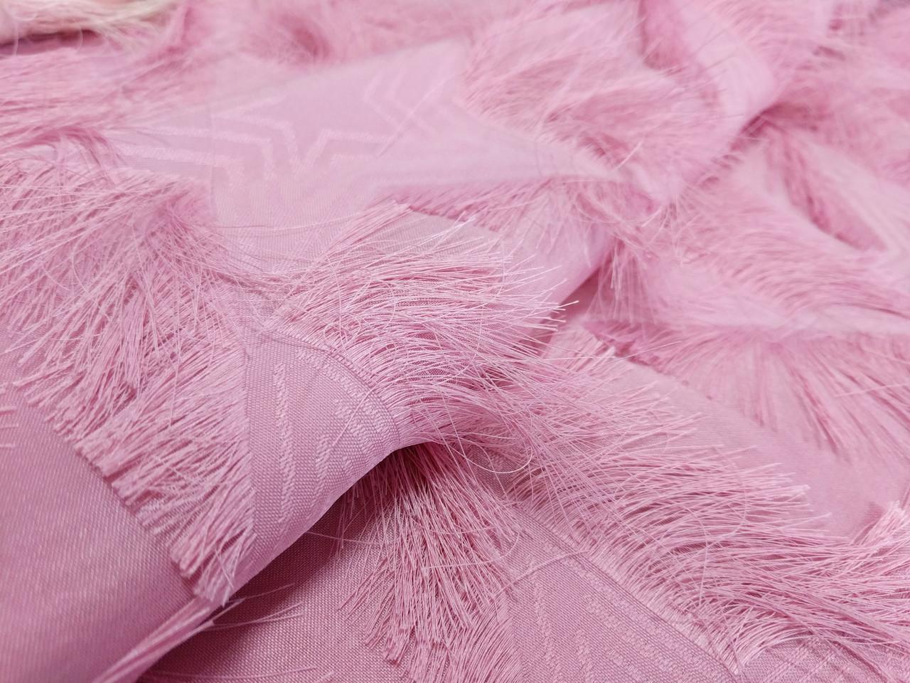 Жаккард ресничка звезды, розовый