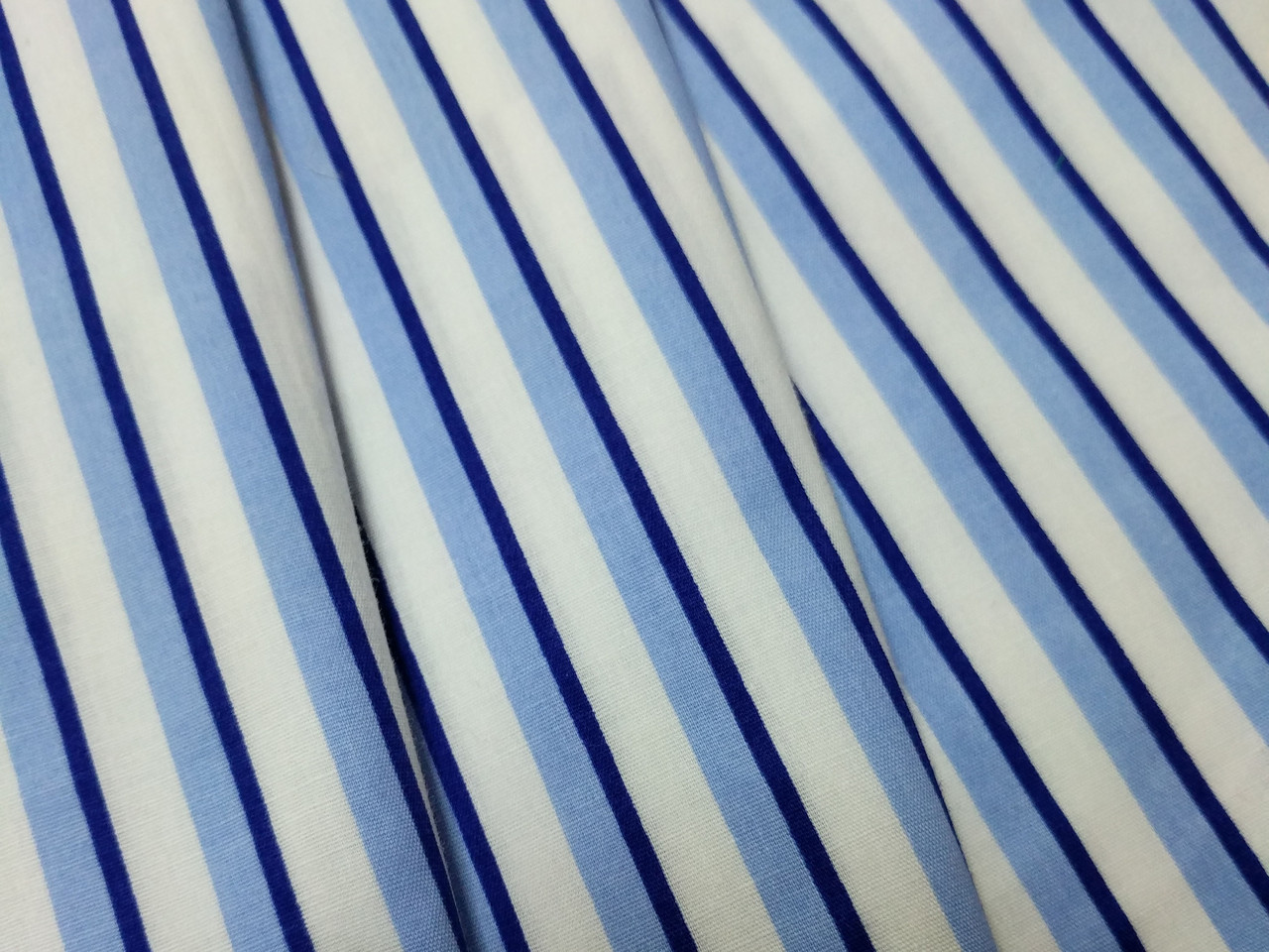 Коттон стрейчевый рубашечный полоска, голубой